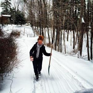 jennier in snow