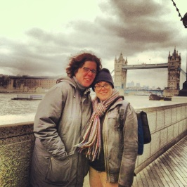 Marissa and her wife, Sarah, at Tower Bridge.