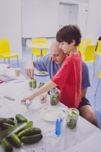 Making our own pickles with LABA artist Shawn Shafner