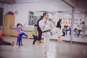Kids did Martial Arts,