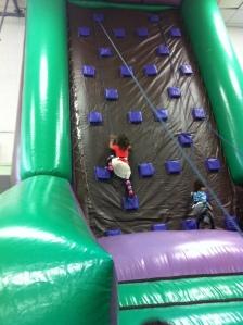 kids climb wall